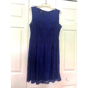 Royal blue cocktail dress size 14